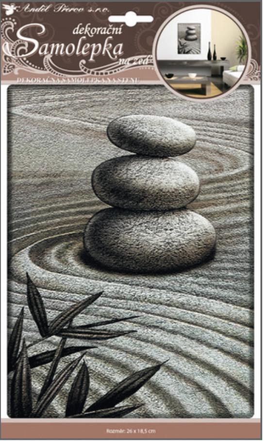 Anděl Přerov Samolepky na zeď 3D tři plastické kameny 31x18,5cm
