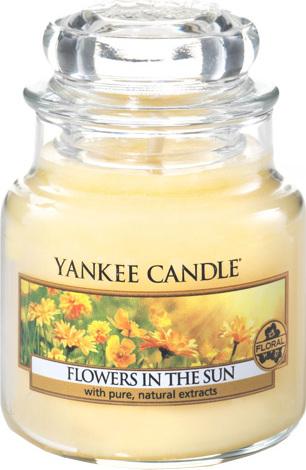 Yankee Candles Svíčka ve skleněné dóze Yankee Candle Květiny na slunci, 104 g