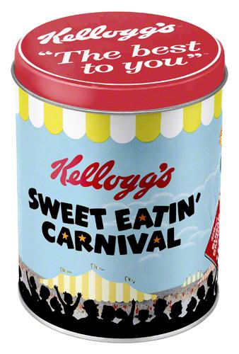 Nostalgic Art Dóza na potraviny Kellogg's Sweet Eatin Carnival 10x13 Rozměry: 10x13cm