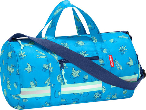 Sportovní taška Reisenthel Modrý kaktus | mini maxi dufflebag S kids