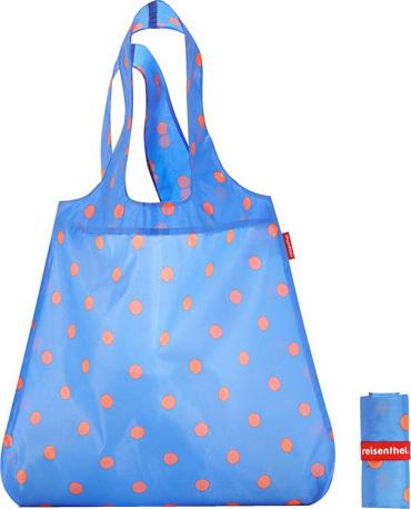 Nákupní taška Reisenthel Azurová s puntíky | mini maxi shopper
