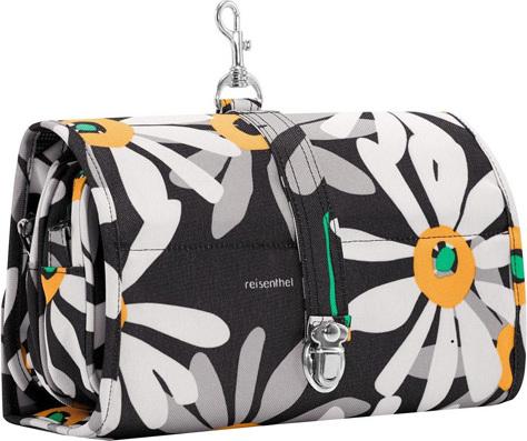 Cestovní kosmetická taška | Reisenthel | wrapcosmetic | Černá s motivem květin