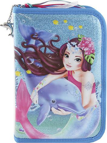 Školní penál | s výbavou | Top Model | S mořskou pannou a delfínem