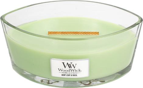 WoodWick svíčka Máta a bazalka | 454g