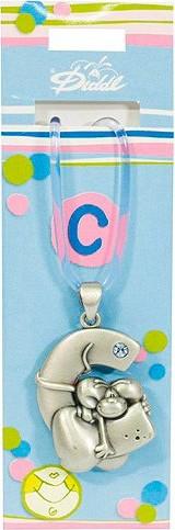 Náhrdelník   Diddl & Friends   s kamínkem   abeceda   C