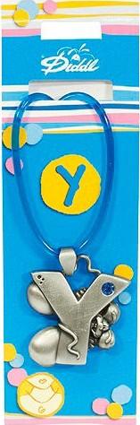 Náhrdelník   Diddl & Friends   s kamínkem   abeceda   Y