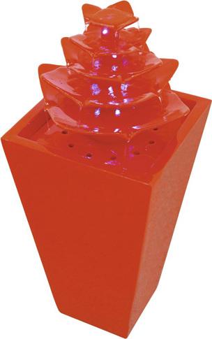 Fontána | Pagoda | Europalms | Červená | s LED diodami | 31x31x72cm