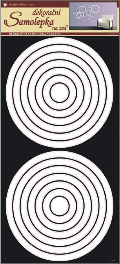 Anděl Přerov Samolepky na zeď kruhy bílé 69x32 cm