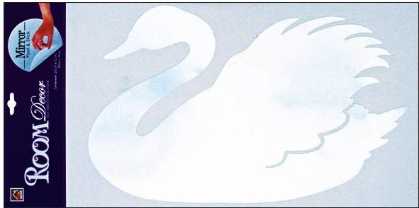 Anděl Přerov Samolepky na zeď labuť zrcadlová 69x32cm