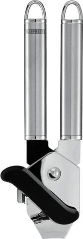 Otvírák na konzervy Leifheit Černo/stříbrný