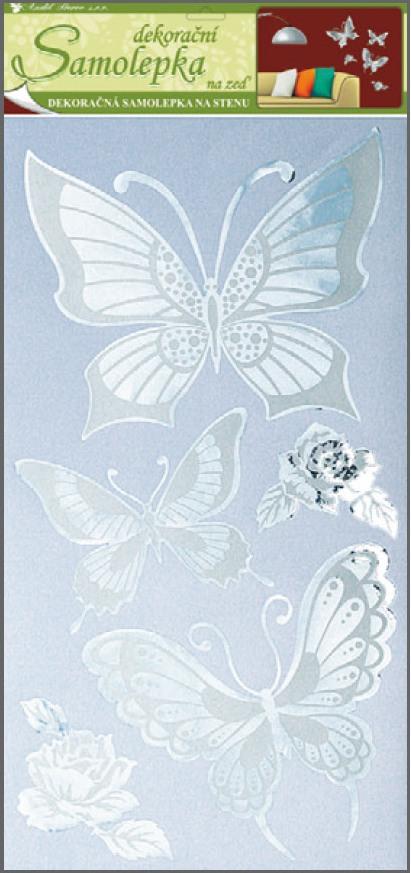 AP Samolepky na zeď motýli 69x30cm