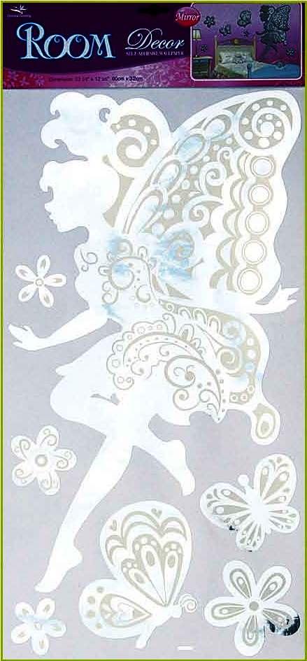 Anděl Přerov Samolepky na zeď víla zrcadlová 69x30cm
