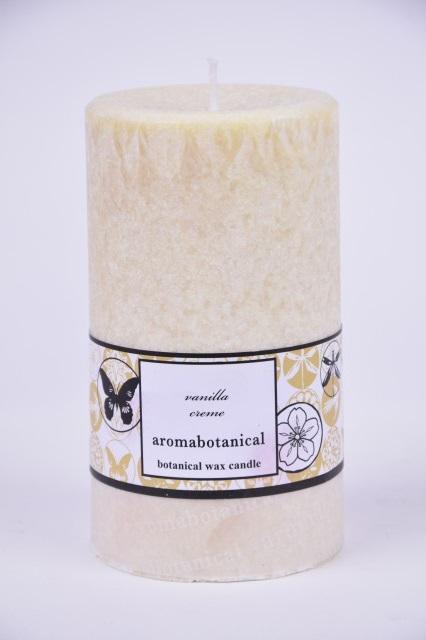 Vonná svíčka z palmového vosku vanilka 6,5x12cm