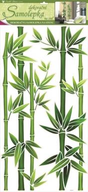 Samolepky na zeď zelený bambus 69x32 cm