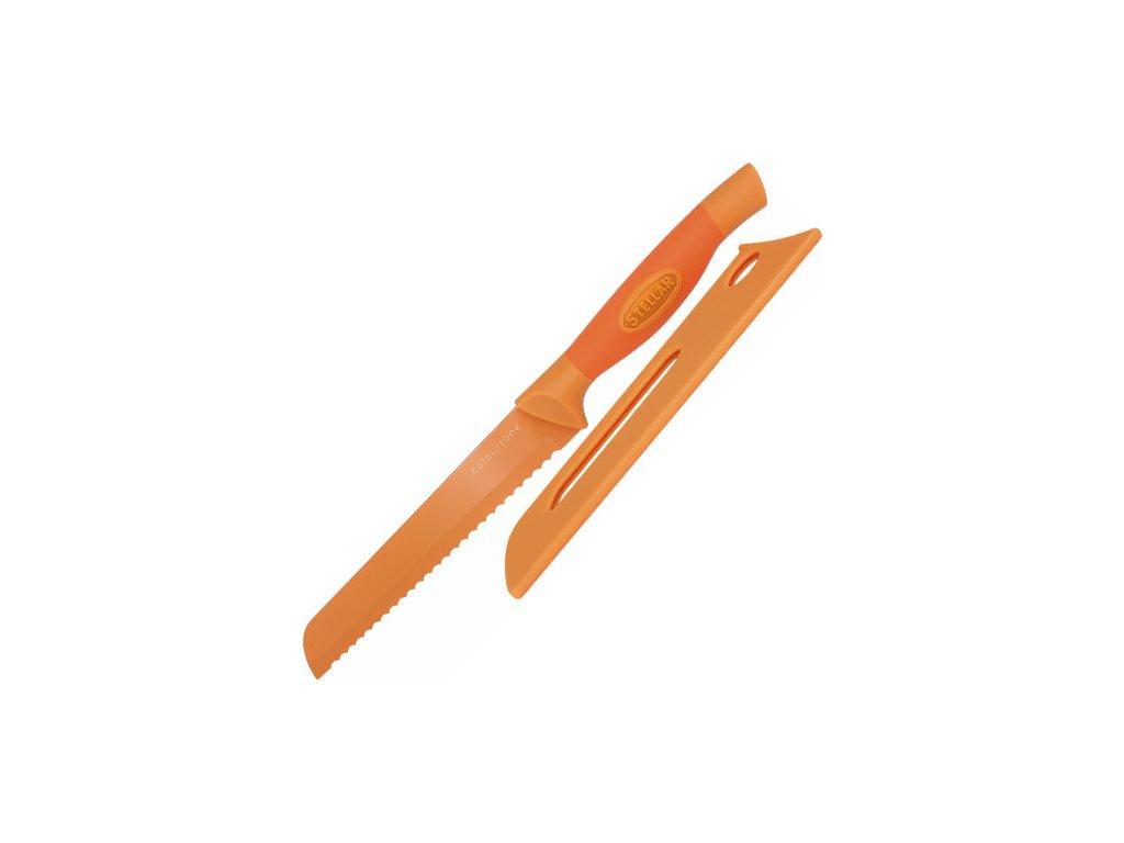 Nůž na chléb | Stellar Colourtone | 18cm | více barev Barva: oranžová