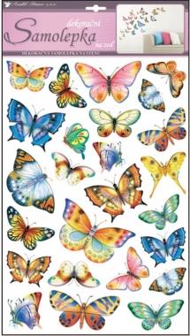 AP Samolepky na zeď barevní motýli II 53x29cm
