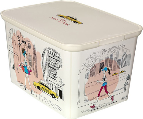 Curver Úložný box AMSTERDAM L Miss New York - rozměr : 40x30x24 c