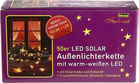 Světelný řetěz Idena LED, teplá bílá, délka 5 m
