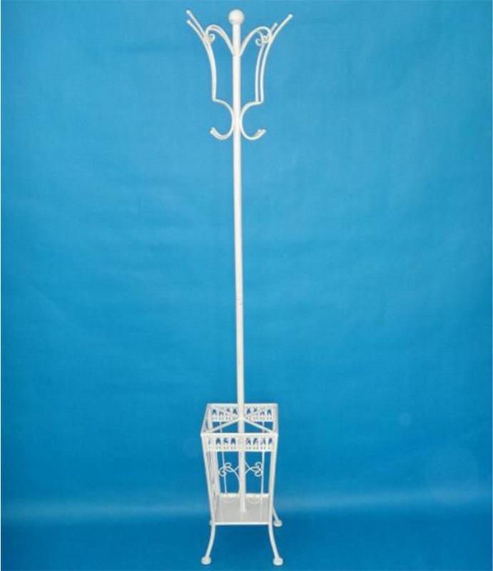 Artium Stojan na oblečení | kovový | bílý | 173x25cm