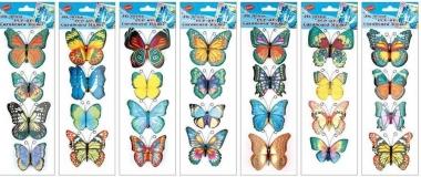 AP Samolepky na zeď motýli s křídly a glitry 34x12cm
