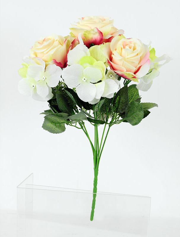 Artium Květina umělá | růže | puget | 35x25cm