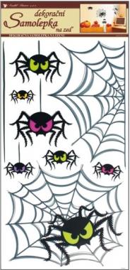 Samolepky na zeď pavouci 69x32cm