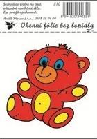 Anděl Přerov Okenní fólie medvídek malá 12,5x8,7cm