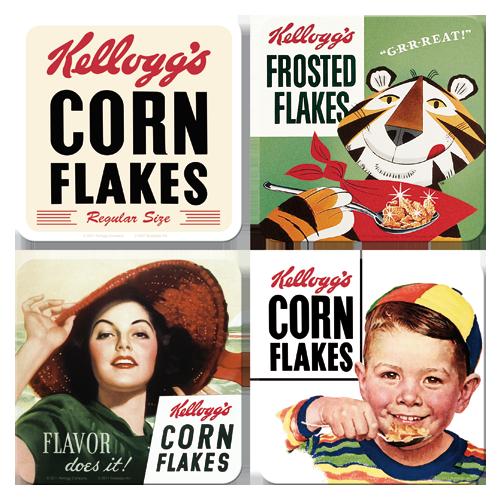 Nostalgic Art Podtácky Kellogg's Corn Flakes Flavour Rozměry: 10x10cm - 4ks, Kolekce: Corn Flakes
