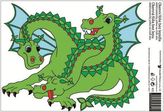 Anděl Přerov Okenní fólie drak 33x23cm