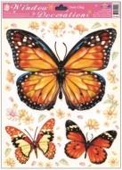Okenní fólie motýlci 30x20cm Provedení: A