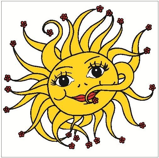 AP Okenní fólie sluníčko 33x35cm