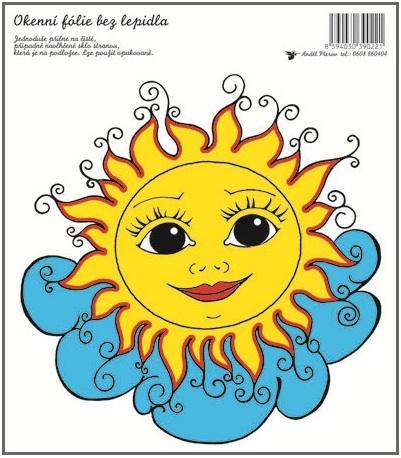 Anděl Přerov Okenní fólie sluníčko na mráčku 20x23cm