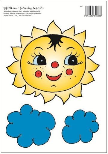 AP Okenní fólie sluníčko s mráčky 33x23cm