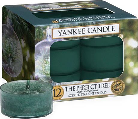 Svíčky čajové Yankee Candle Dokonalý stromek, 12 ks