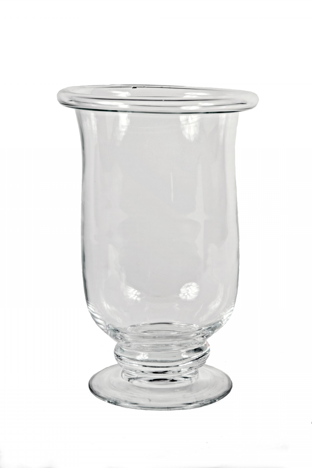 Váza skleněná s lemem na noze 35x24cm