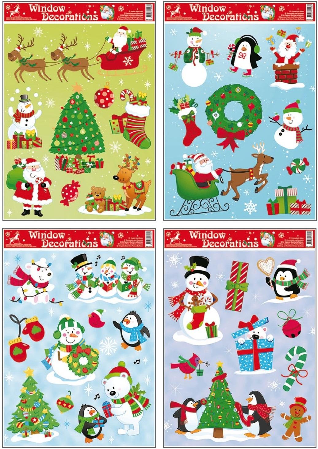 Okenní fólie barevná vánoční 42x30cm I