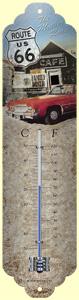 Nostalgic Art Venkovní teploměr s motivem Route 66 The Mother Road