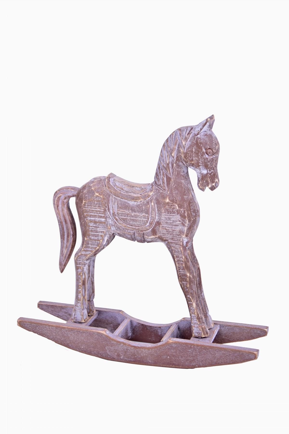 Koník hnědý houpací 16x15x4cm