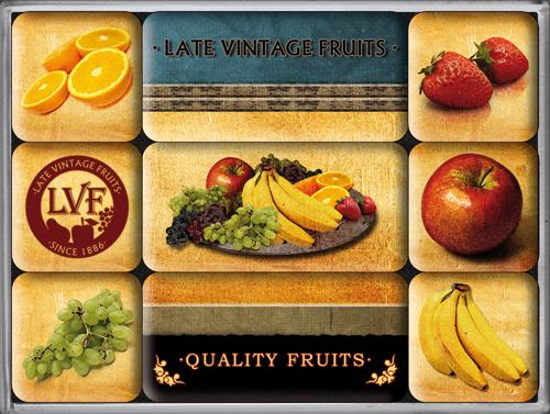 Nostalgic Art Magnetky na ledničku Quality Fruits
