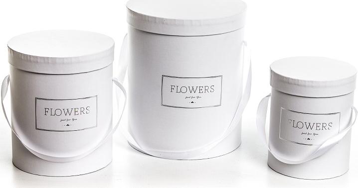 Harasim Flower box bílý, sada 3 ks