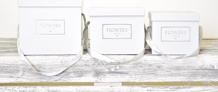 Harasim Flower box šedý, sada 3 ks