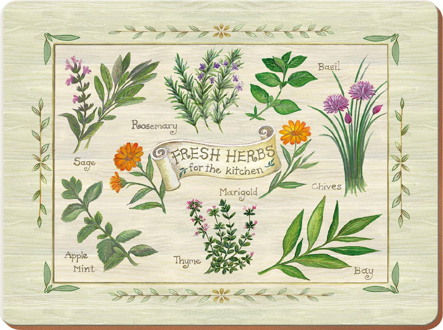 Creative Tops Korkové prostírání Fresh Herbs malé