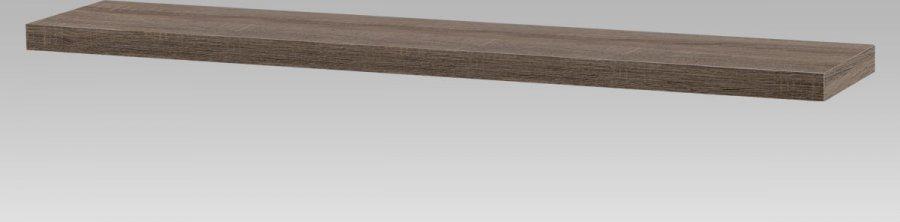 Nástěnná polička 120cm, barva tmavý sonoma dub