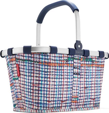 Nákupní košík Reisenthel Bílý s barevnými proužky, carrybag