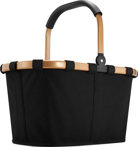 Nákupní košík Reisenthel Černý se zlatým rámem | carrybag