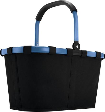 Nákupní košík Reisenthel Černý s modrým rámem | carrybag
