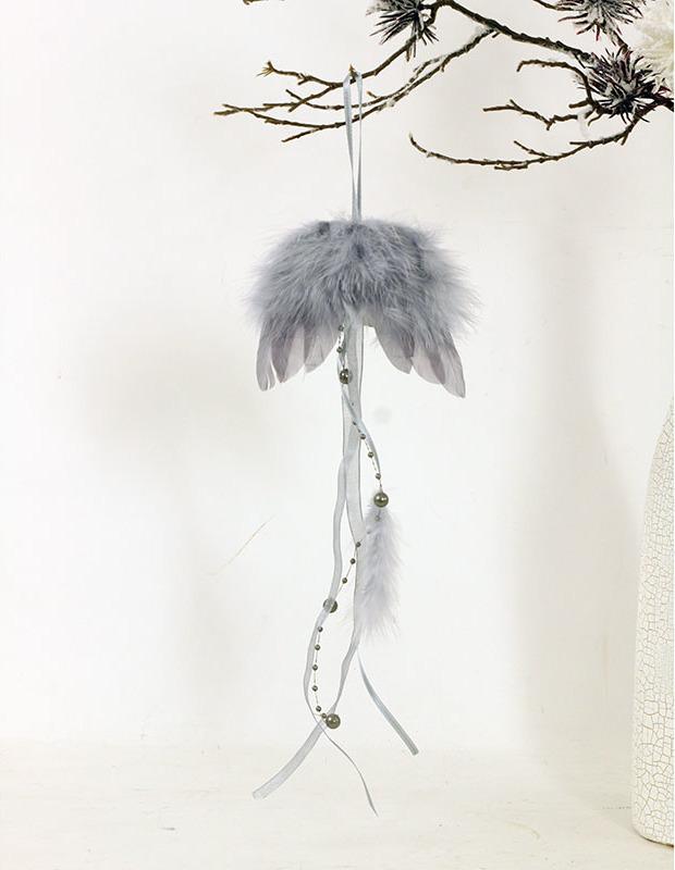 Andělská křídla z peří,, barva šedá, baleno 12ks v polybag. Cena za 1 ks.