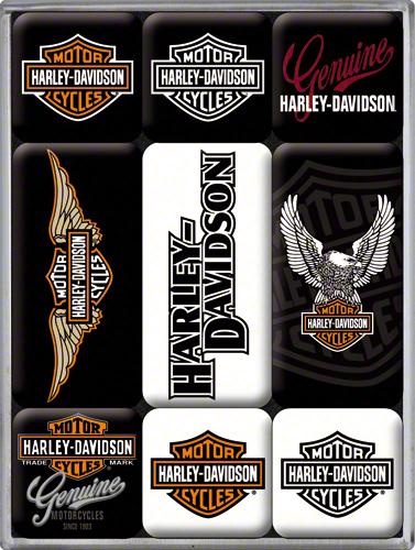 Nostalgic Art Magnetky na ledničku Harley Davidson Genuine