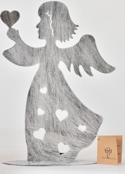 Harasim Svícen anděl stříbrný 21 cm