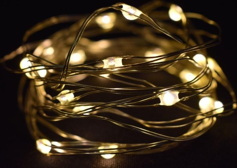 Harasim Světelný řetěz 100 cm, 10 LED teplé bílé světlo